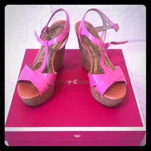 Dakota Wedge Heels -Pink by: Juicy Couture 6M